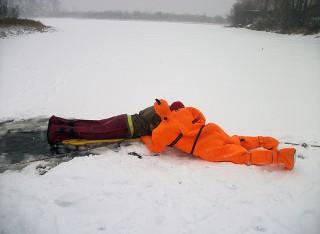 В Котласе прошла тренировка спасателей